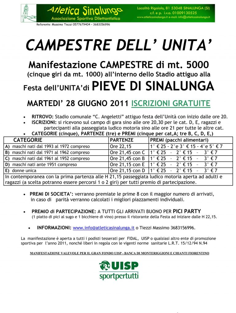 CAMPESTRE DELL'UNITA'