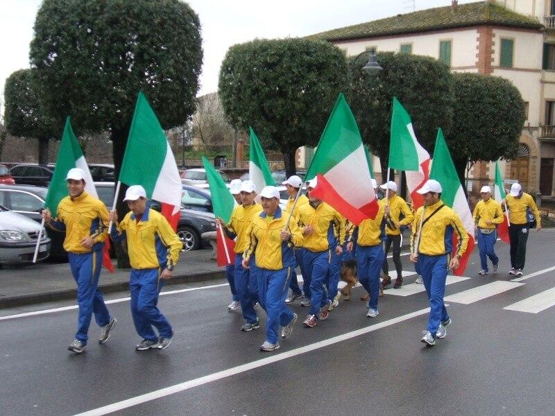 Staffetta 150° Anniversario della Repubblica Sinalunga 17/03/2011