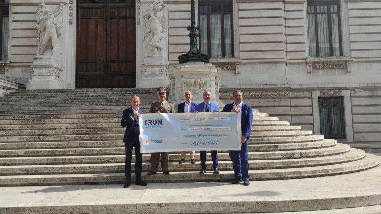 Run4Hope Staffetta Italiana donazione AIRC